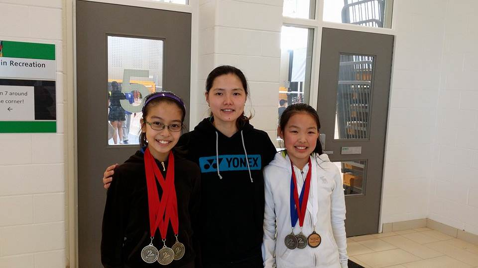 Coach Yee ( Middle) With Tiffany ( Left) and Jessica Liu ( Right)